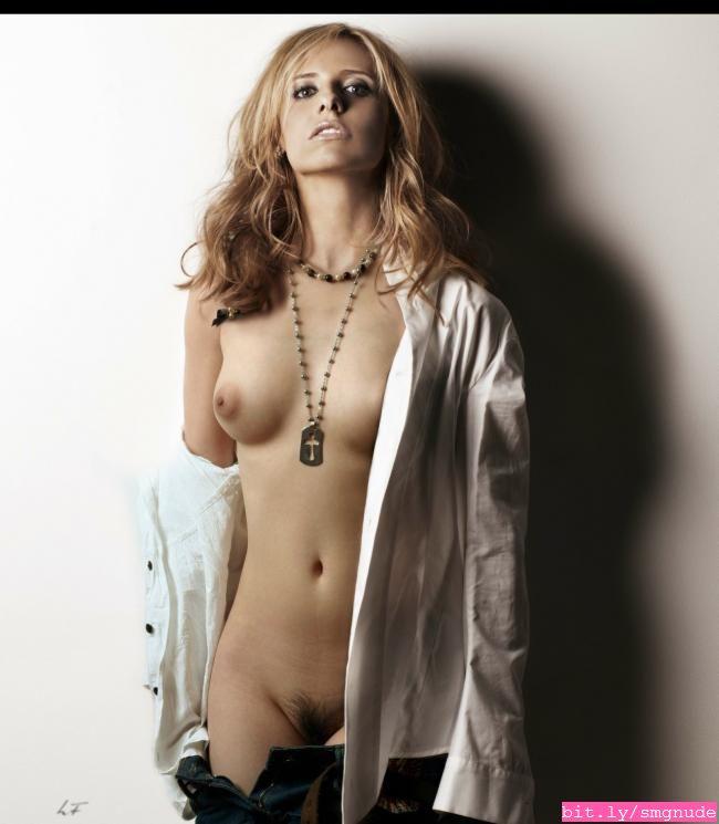Nude sarah fakes gellar michelle