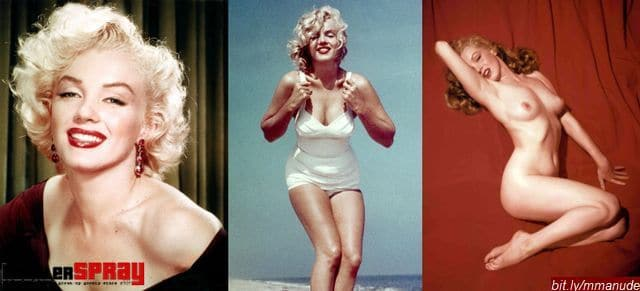 nude photos of Marilyn Monroe