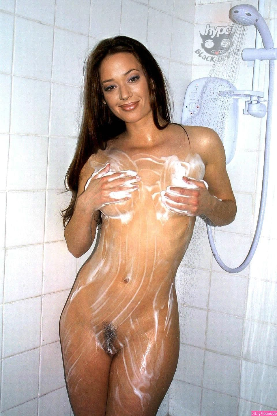 leah remini naked on bed