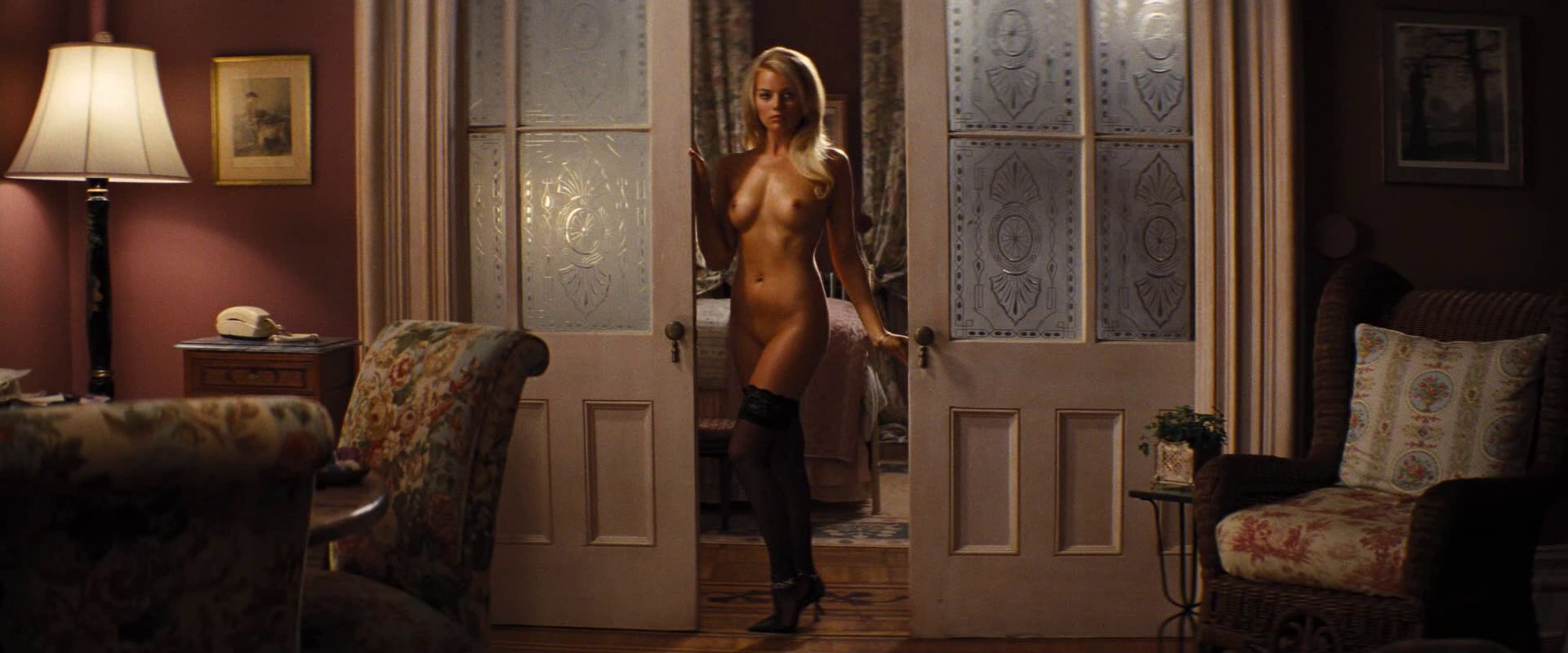 naked thin girl in mirror