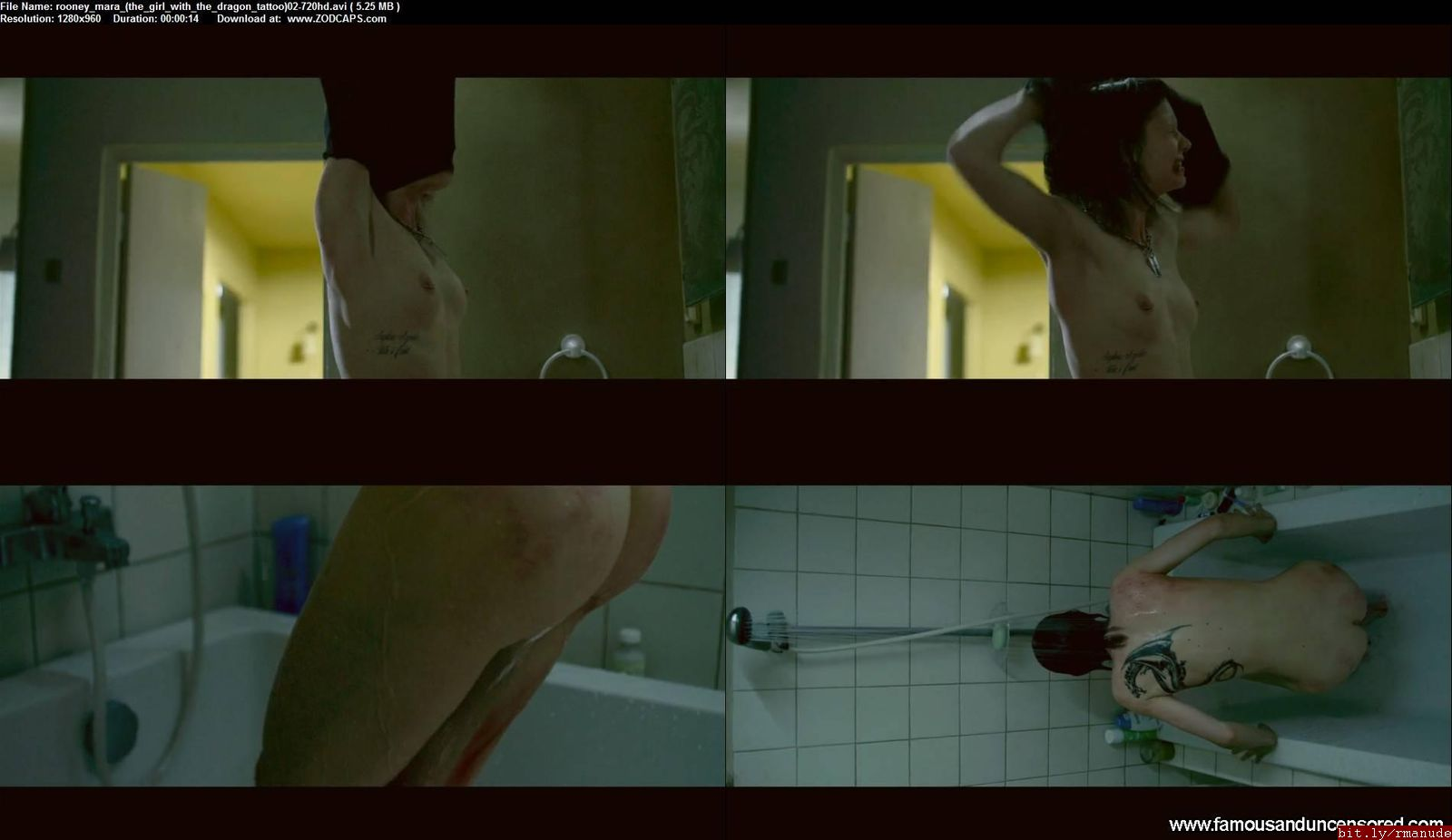 Girl with the dragon tattoo rooney mara sex scene