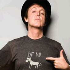 Paul McCartney vegetarian PETA advert