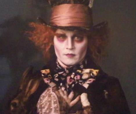 you think about the new pictures of Johnny Depp as the Mad Hatter in Tim