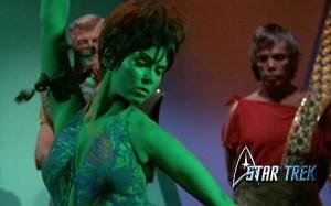 star trek green girl
