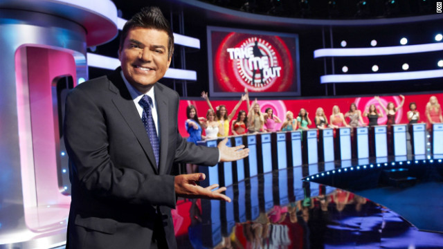 George Lopez and the Take Me Out girls.