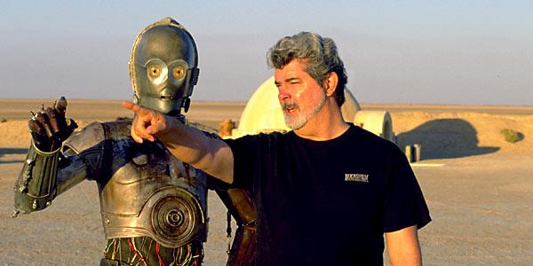 George Lucas directing C3PO