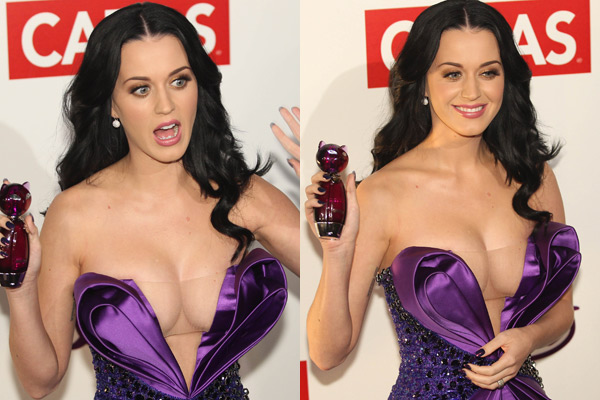 katy perry showing cleavage