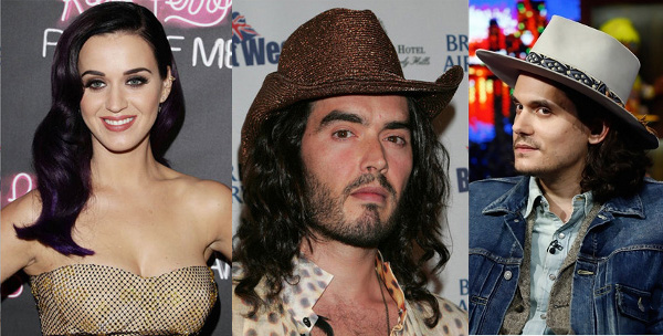 katy perry russell brand and john mayer