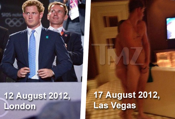 Prince Harry naked in Las Vegas