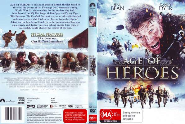 The DVD cover for Age Of Heroes. 