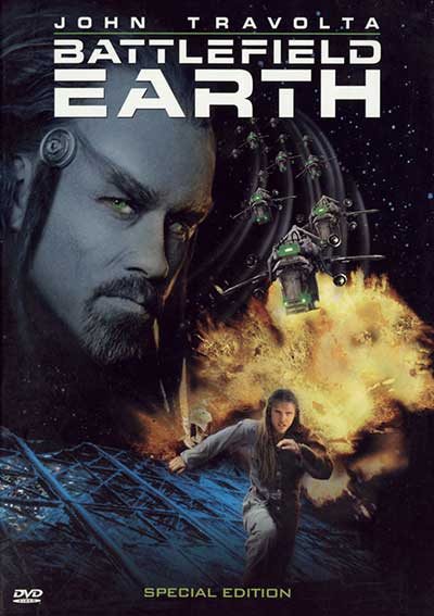 The DVD cover for Battlefield Earth. 
