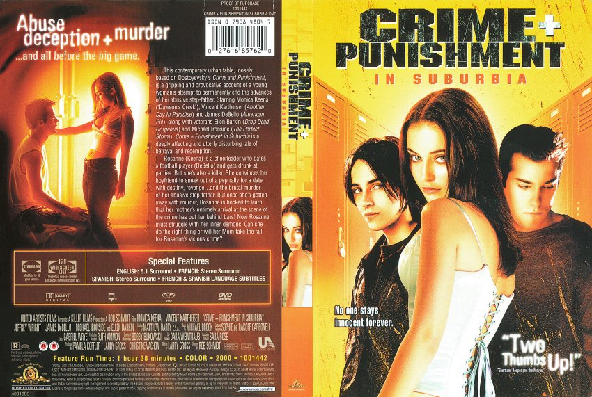 The DVD cover for Crime + Punishment In Suburbia. 
