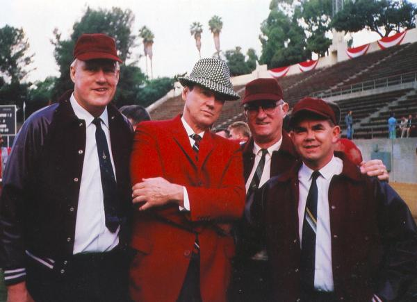 The group of college football coaches from the film, Forrest Gump.