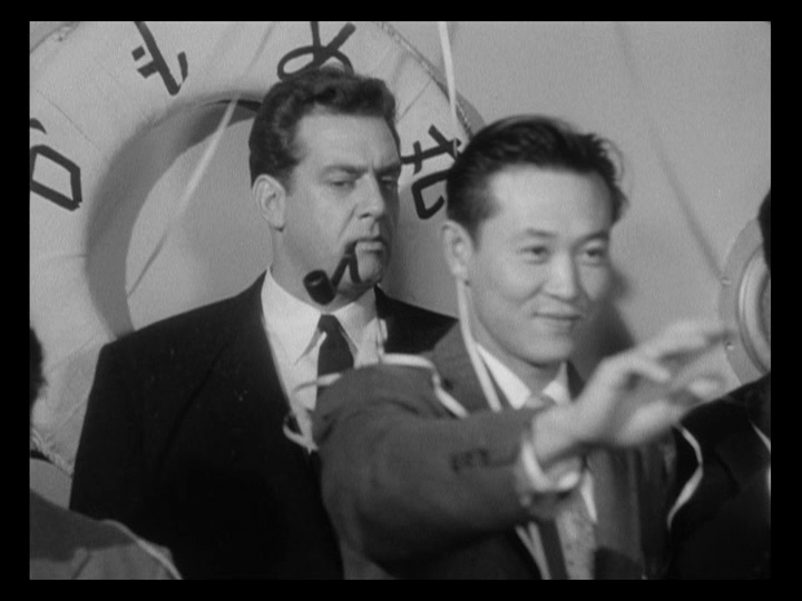 Boat guest in the 1956 film, Godzilla: King Of The Monsters