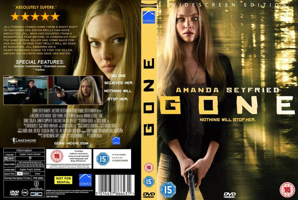 The DVD cover for Gone. 
