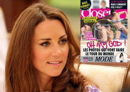 Kate Middleton Topless in Closer Magazine France