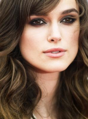 Keira Knightley pouting. With her pouty face.