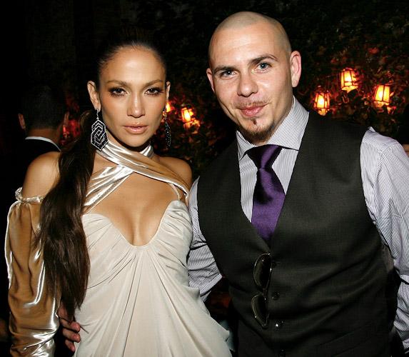 Pitbull and Jennifer Lopez.