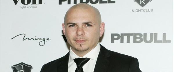 Pitbull on the red carpet.