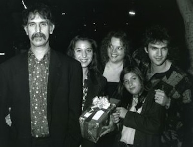 Frank Zappa with his children