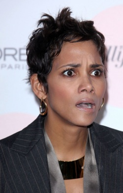 Halle Berry Looks Scared