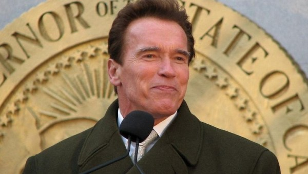 Arnold Schwarzeneggar acting as Governor.