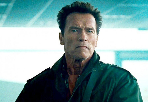 Arnold Schwarzeneggar in The Expendables 2.