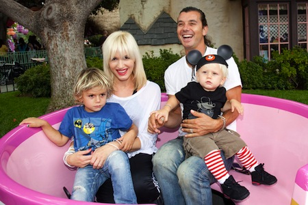 gwen stefani gavin rossdale with zuma and kingston