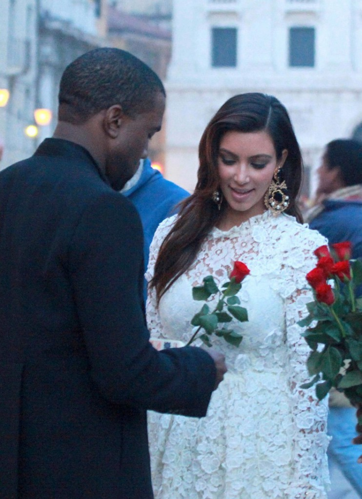 Kanye West and Kim Kardashian on her 32nd birthday In Venice