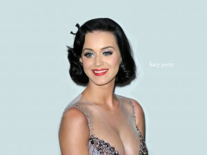 Katy Perry with her boobs out