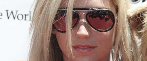 Ke$ha wearing sunglasses.