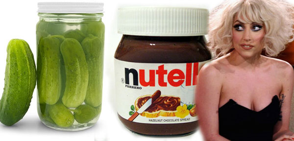 Lady Gaga, a pickle, and Nutella