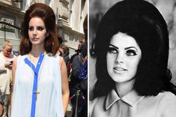 lana del rey priscilla presley look alike