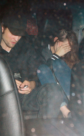 Robert Pattinson and Kristen Stewart Hiding from Photogs