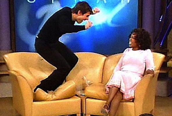 tom cruise jumping on oprah couch