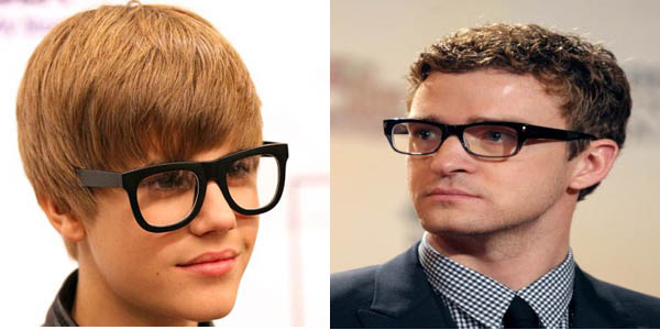 Justin Bieber and Justin Timberlake Hipster Glasses