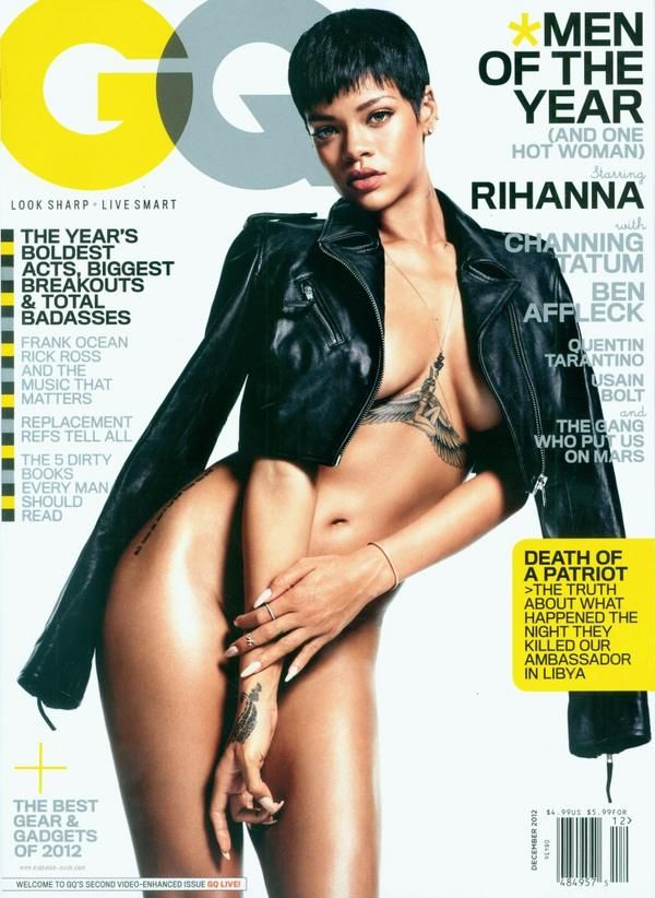 rihanna naked gq magazine cover