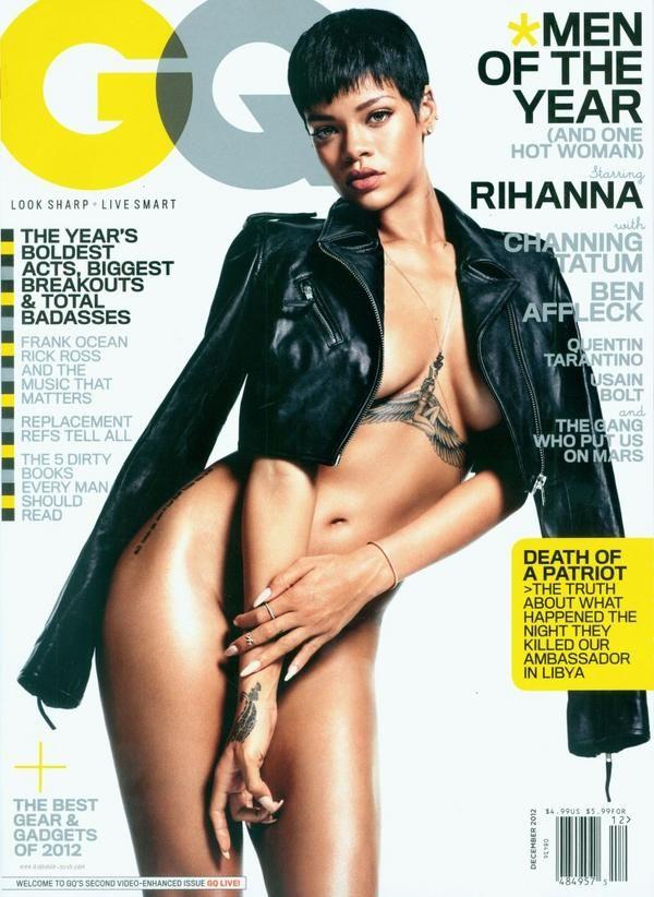 rihanna naked gq magazine cover
