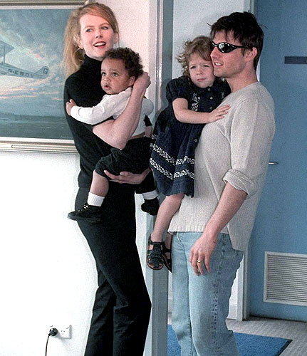Tom Cruise, Nicole Kidman with Their Children