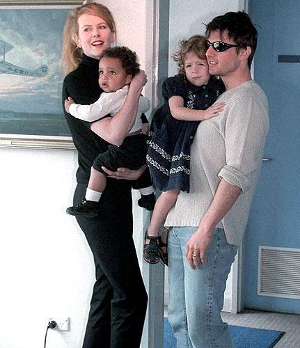 Tom Cruise, Nicole Kidman with Their Children