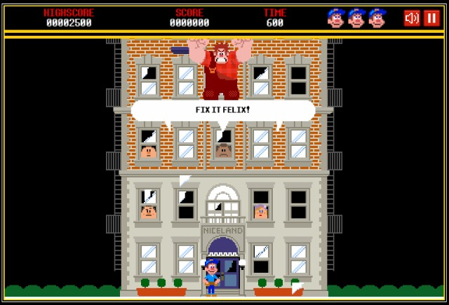 A still from the Wreck-It Ralph game.