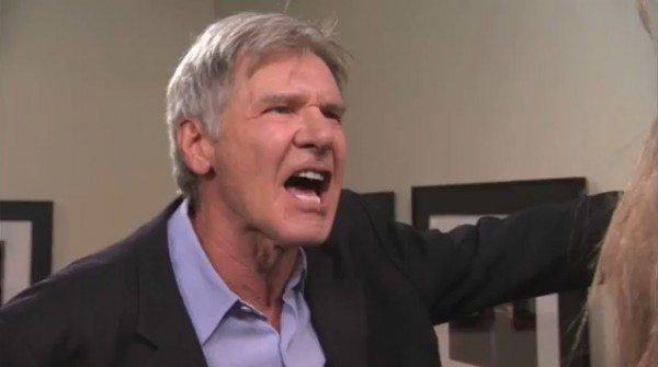Harrison Ford yelling at Chewbacca, from a sketch on the Jimmy Kimmel show.