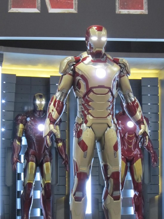 A suit from the upcoming film, Iron Man 3.