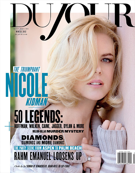 Nicole Kidman DuJour cover