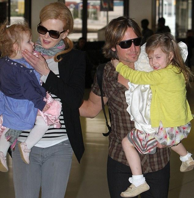 Nicole Kidman, Keith Urban, and kids