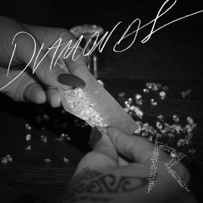 "The cover to Rihanna's ""Diamonds"" single."