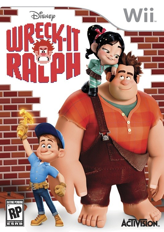 The cover of the Wreck-It Ralph Wii game.