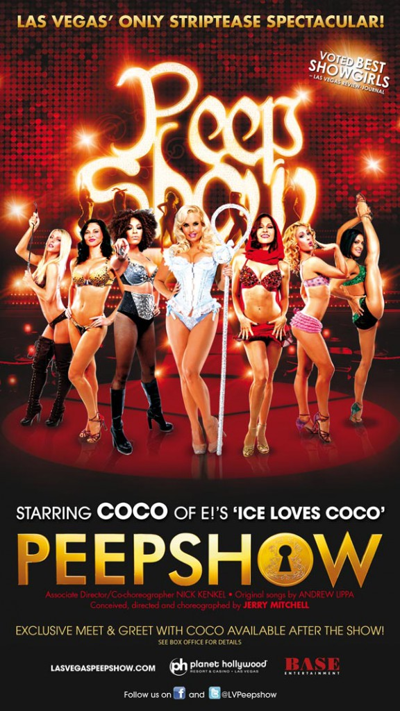 Coco's Peep Show Flyer