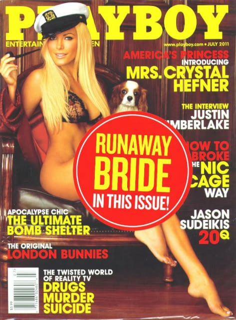 Crystal Harris on Playboy cover