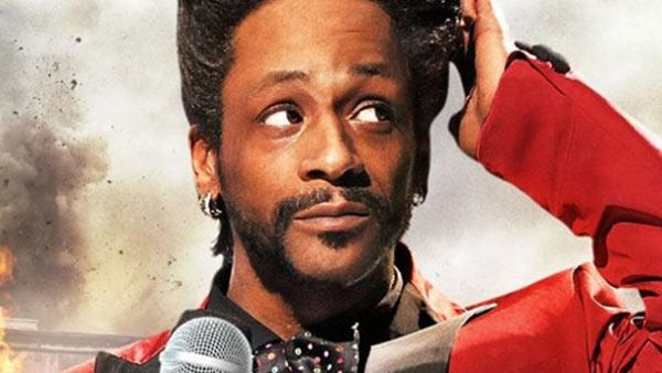 Katt Williams on the cover of his new special, Kattpacalypse.